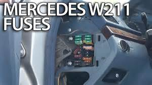 where are fuses and relays in mercedes benz w211