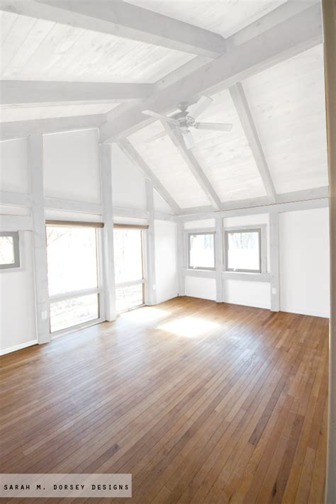 White Ceiling Beams by M Dorsey Designs Wood In Our House To Paint Or