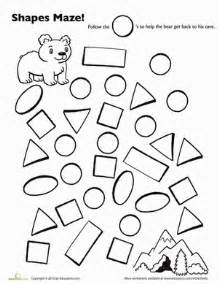 maze ing shapes follow circles worksheet education