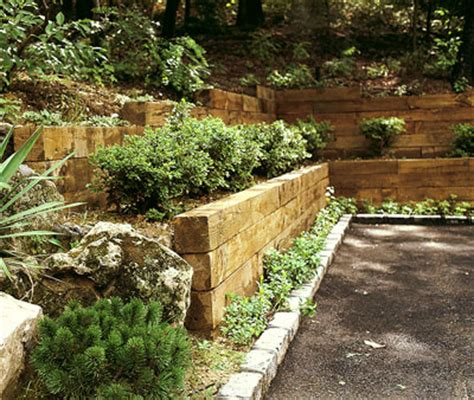 wooden garden wall home design tips retaining wall solutions