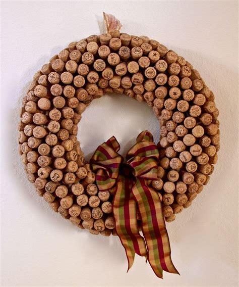 cork wreath craft pinterest
