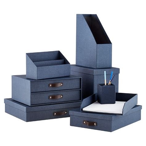 office storage containers bigso marten navy office storage boxes the container store