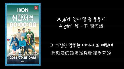 my lyrics hangul 韓中字 ikon 아이콘 취향저격 my type lyrics with hangul