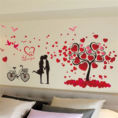 Sticker Wallpaper I Loved You aliexpress buy tree wallpaper stickers bedroom living room background wall