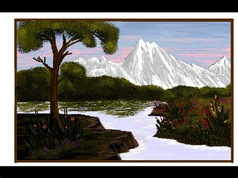 Landscape Pictures To Draw And Paint How To Draw A Landscape With Ms Paint