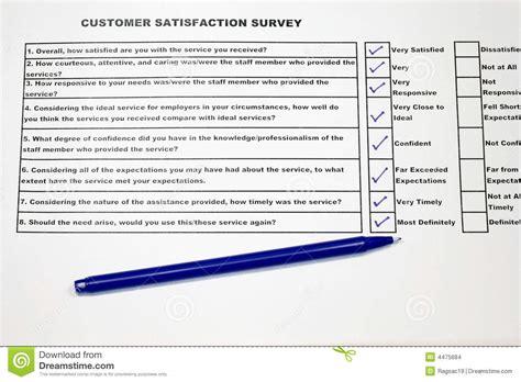 web mail interno it encuesta sobre la satisfacci 243 n cliente foto de archivo