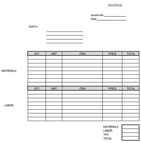 it contractor invoice template electrical invoice template images