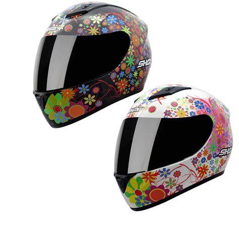 helmet design for ladies shox axxis floral ladies womens motorcycle motorbike full