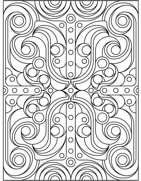 geometric pattern coloring pages coloring home