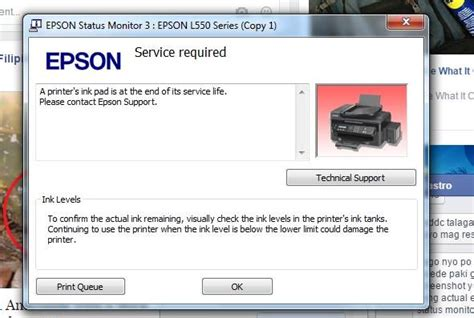 resetter epson l550 epson l550 resetter epson online remote reset services