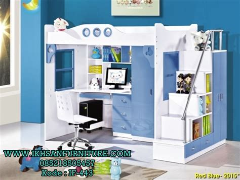 Tempat Tidur Anak Atas Bawah desain kamar anak laki laki ukuran 3x3 ranjang anak multifungsi ikhsan furniture jepara