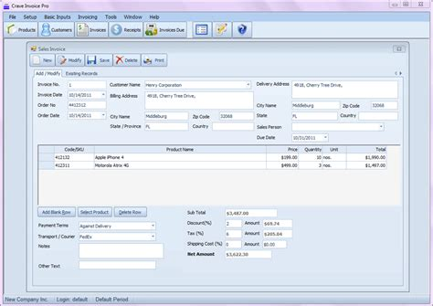 software sales template freeware invoicing software