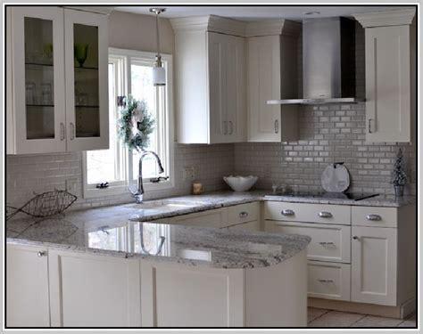 White Crackle Subway Tile Backsplash   Home Design Ideas