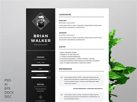 cv template design 70 well designed resume exles for your inspiration