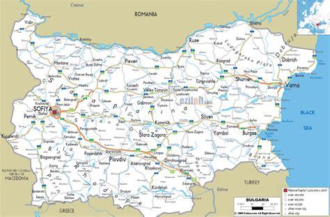 road map  bulgaria ezilon maps