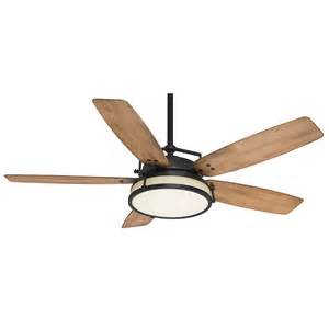 Outdoor Ceiling Fan With Light And Remote Shop Casablanca Caneel Bay 56 In Aged Steel Downrod Mount