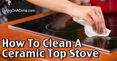 how to clean a ceramic top stove step by step