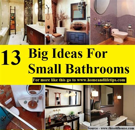 big ideas for small bathrooms 13 big ideas for small bathrooms home and tips