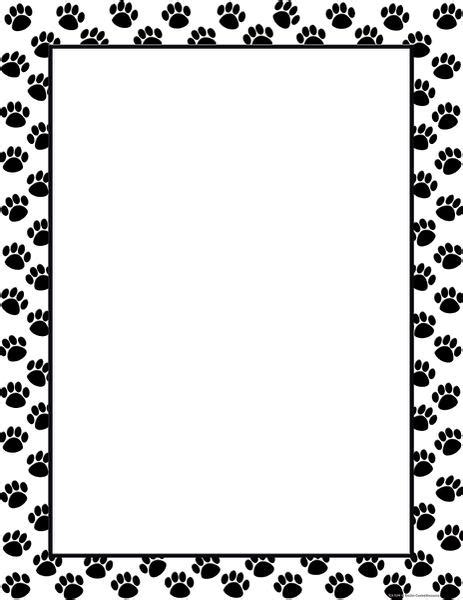 Paw Print Page Border Clip by Create A Border With Paw Prints Clipart Best