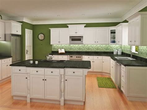 Green Kitchen Walls With White Cabinets The World S Catalog Of Ideas