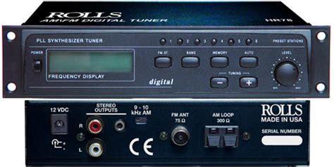 Half Rack Tuner by Rolls Hr78 Digital Half Rack Am Fm Tuner