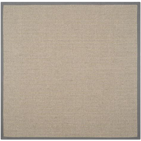 Brown And Gray Area Rug Safavieh Fiber Grey Brown Grey 6 Ft X 6 Ft Square Area Rug Nf444a 6sq The Home Depot
