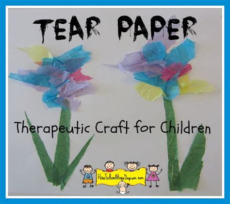 Paper Tearing Craft - tearing tissue paper a therapeutic craft for children