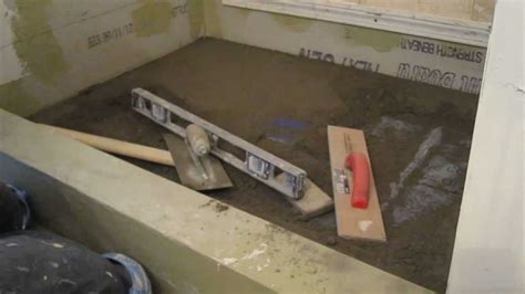 Shower Pan Mud Mix by How To Install Mud In A Shower Floor