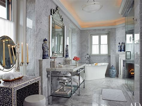 Wall Tile Ideas For Small Bathrooms marble bathroom renovating ideas architectural digest