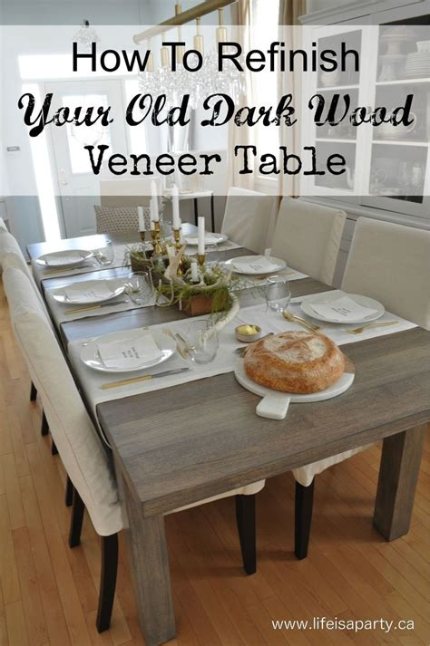 how to strip a table and how to refinish your old dark wood veneer table how to