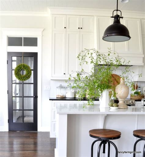 simple spring decor farmhouse style kitchen kitchen