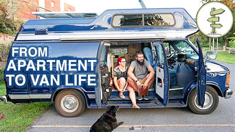 van living van life couple moves from apartment to cer van full