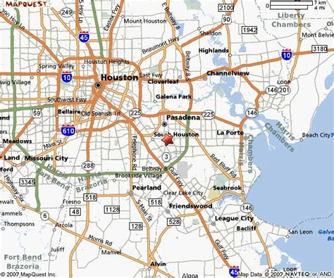 pasadena texas map pasadena texas map and pasadena texas satellite image