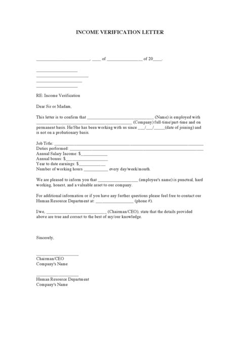 Proof Of Employment Letter For Medicaid Income Verification Letter Legalforms Org