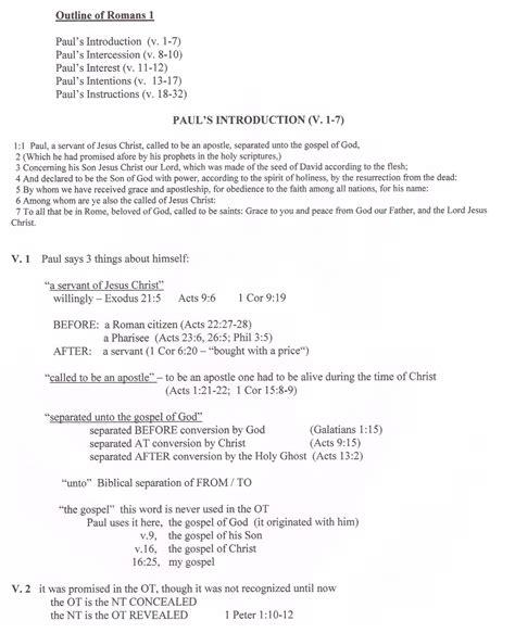 1 22 25 Sermon Outline by Romans Commentaries Sermons Precept Autos Post