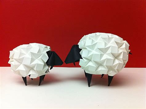 Sheep Origami - most adorable origami creations for world origami day