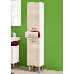 meuble colonne salle de bain 2 portes 1 tiroir schildmeyer
