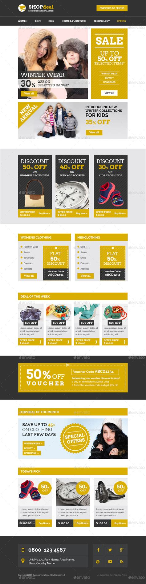E Commerce Special Offer Email Template By Kalanidhithemes Graphicriver Special Offer Email Template