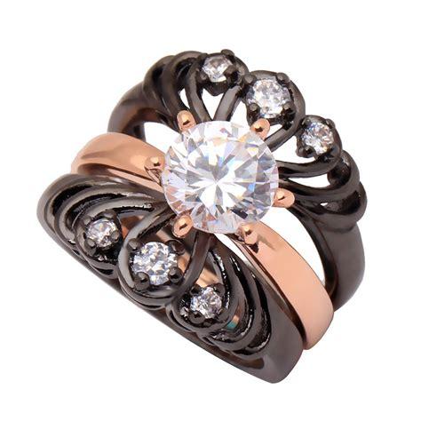 Flower Set 3 wedding ring set 3 chrysanthemum flower rings gold color vintage rings for new design