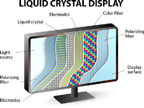 what is a section 5 cross section of an lcd display science and technology