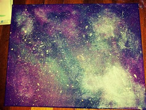 acrylic painting galaxy my own galaxy painting using purple teal blue white