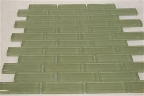 1 X3 Gray Ceramic Tile by Spray 1 In X3 In Olive Green Glass Tile