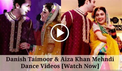 Film Barat Dance | danish taimoor and aiza khan mehndi dance barat