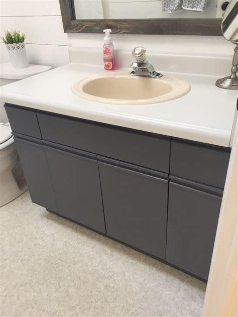 chalk paint on laminate kitchen cabinets bathroom update how to paint laminate cabinets paint