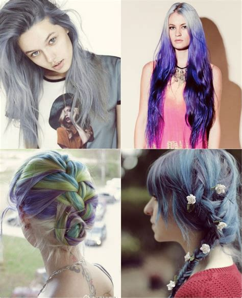 blue  violet ombre hair styles extensions