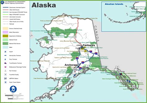 road map alaska usa alaska highway map my