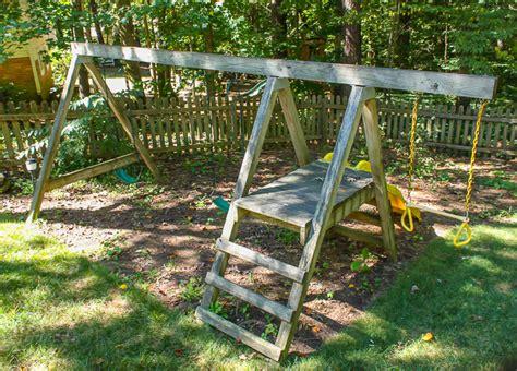 swing swap before swingset looking down pretty handy girl