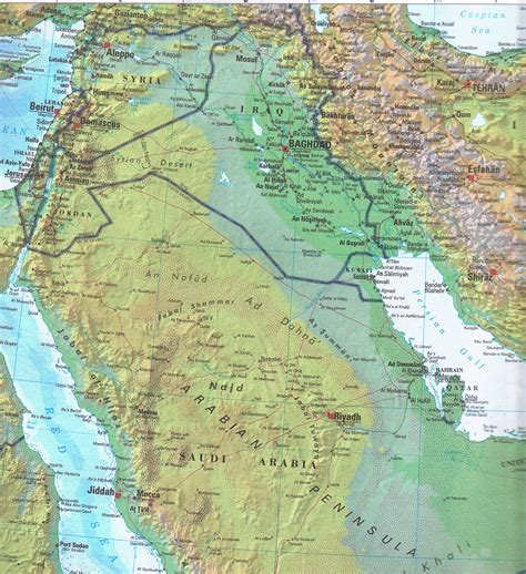 geological map of iraq large detailed topographical and political map of iraq