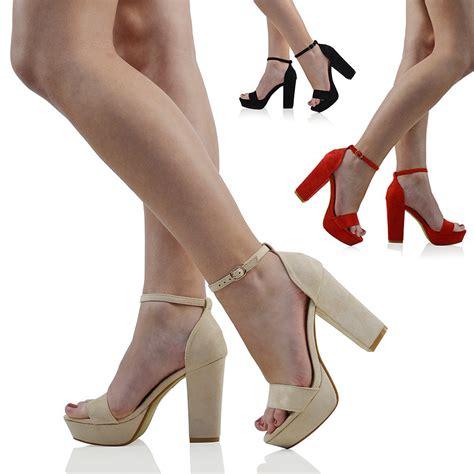 block heel high heels womens platform block heel sandals peep toe