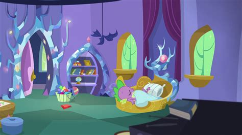 twilight sparkle bedroom image spike sleeping soundly in his castle bedroom s5e7